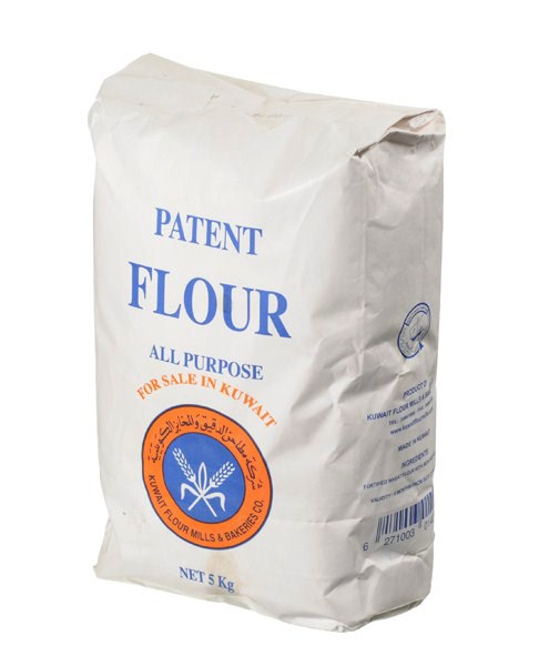 cups in bag of flour